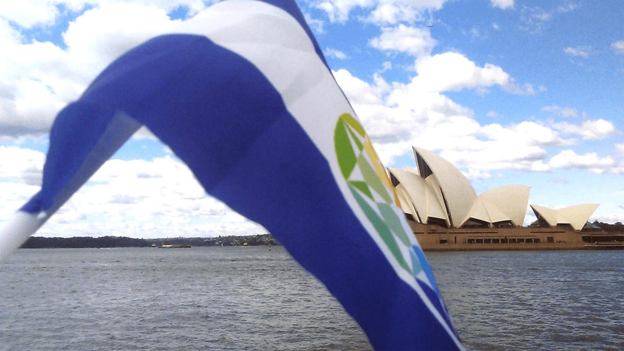 A bandeira do Autistão em Sydney (por Josef Schovanec)